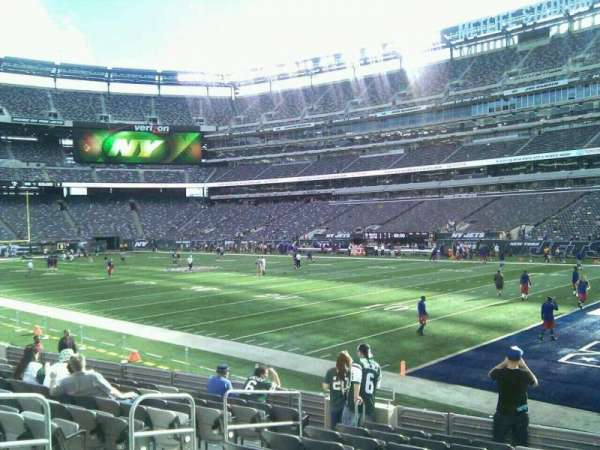 MetLife Stadium, section: 108, row: 11, seat: 8
