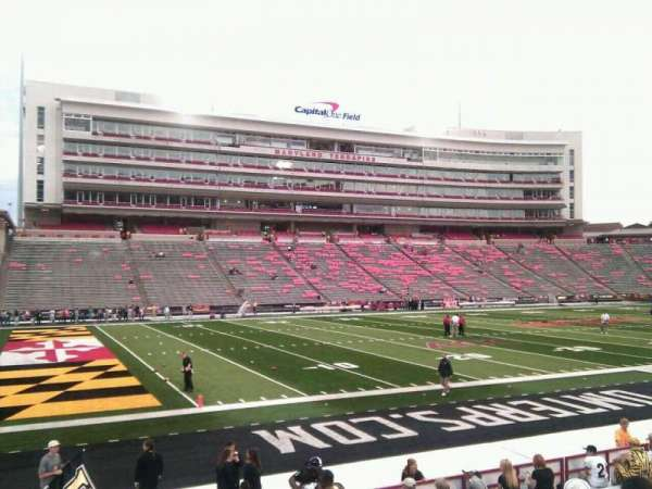 Maryland Stadium, section: 2, row: p, seat: 11