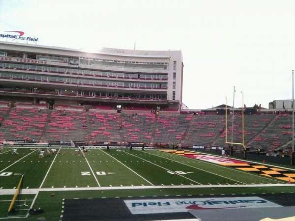 Maryland Stadium, section: 7, row: o, seat: 18