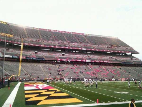Maryland Stadium, section: 20, row: g, seat: 13
