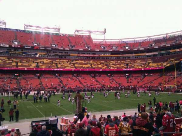 FedEx Field, section: 101, row: 14, seat: 10