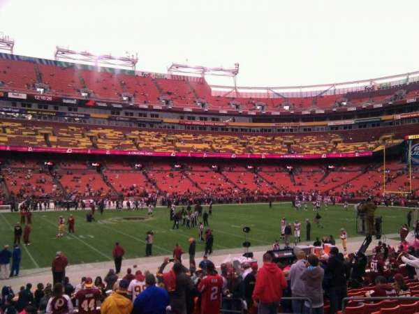 FedEx Field, section: 102, row: 14, seat: 10