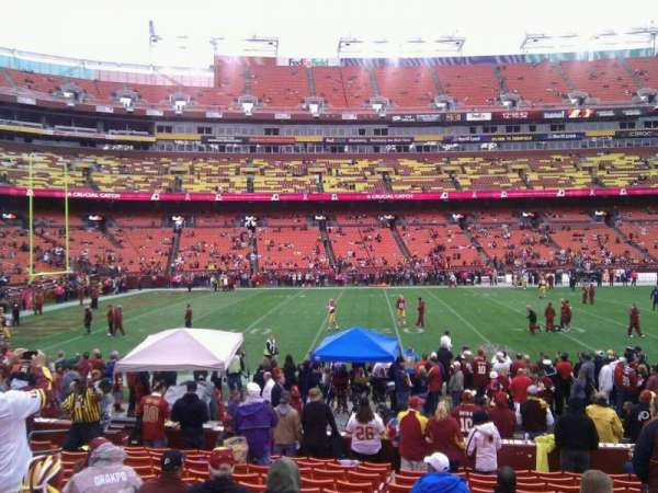 FedEx Field, section: 103, row: 14, seat: 10