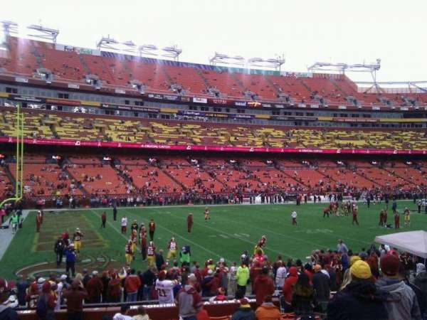 FedEx Field, section: 105, row: 14, seat: 10