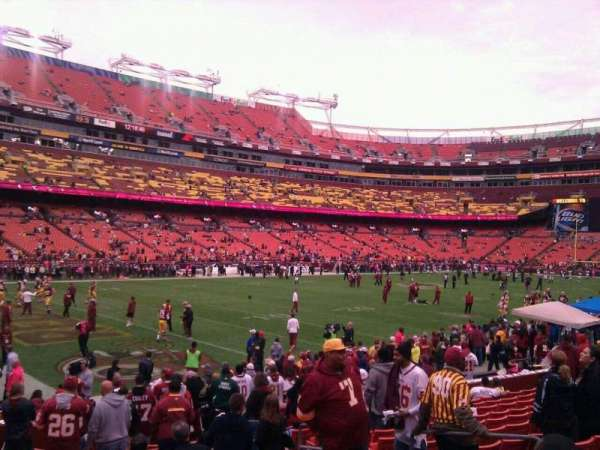 FedEx Field, section: 106, row: 16, seat: 10
