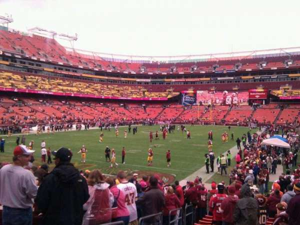 FedEx Field, section: 109, row: 16, seat: 10