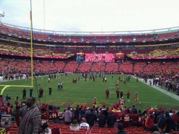 FedEx Field, section: 110, row: 16, seat: 10