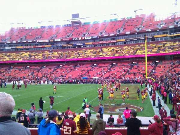 FedEx Field, section: 117, row: 11, seat: 10