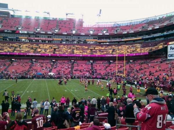 FedEx Field, section: 119, row: 11, seat: 10