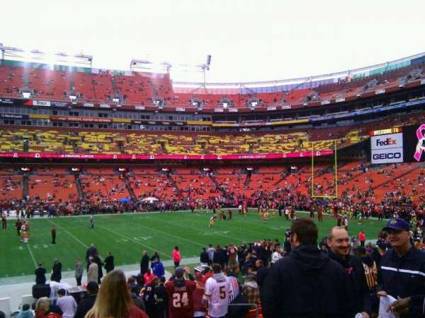 FedEx Field, section: 121, row: 15, seat: 10