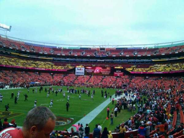 FedEx Field, section: 129, row: 19, seat: 10