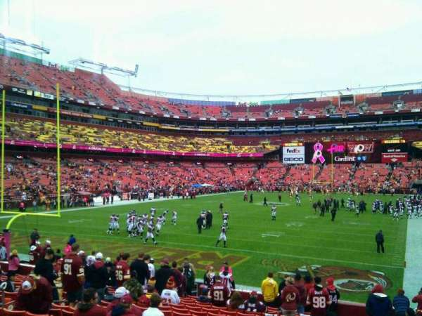 FedEx Field, section: 130, row: 19, seat: 10