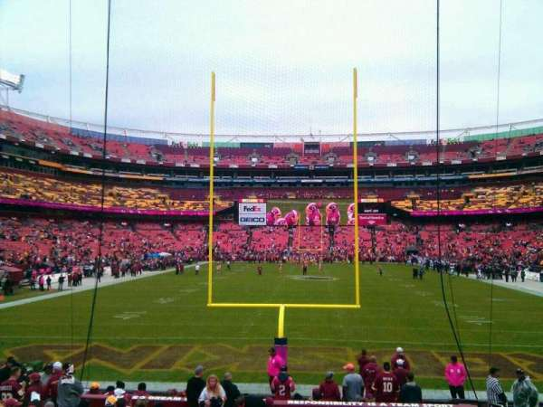 FedEx Field, section: 132, row: 19, seat: 10