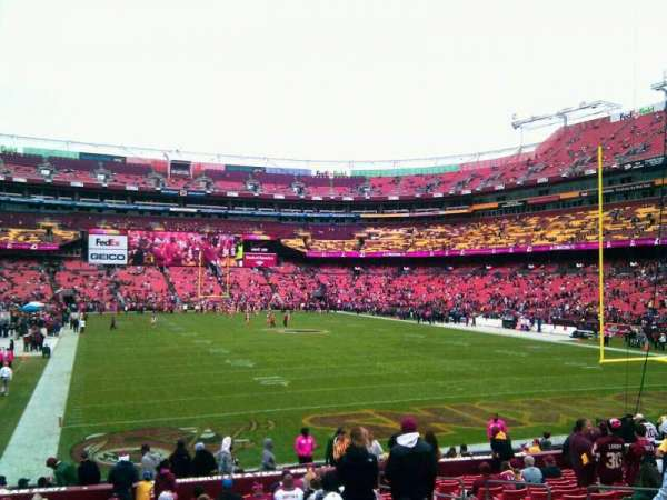FedEx Field, section: 134, row: 19, seat: 10