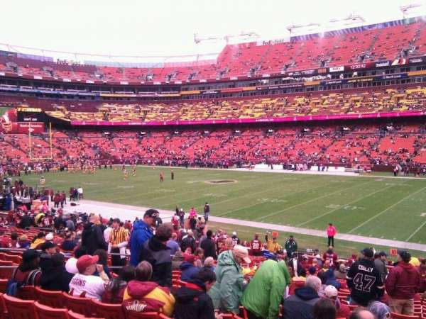 FedEx Field, section: 139, row: 26, seat: 10