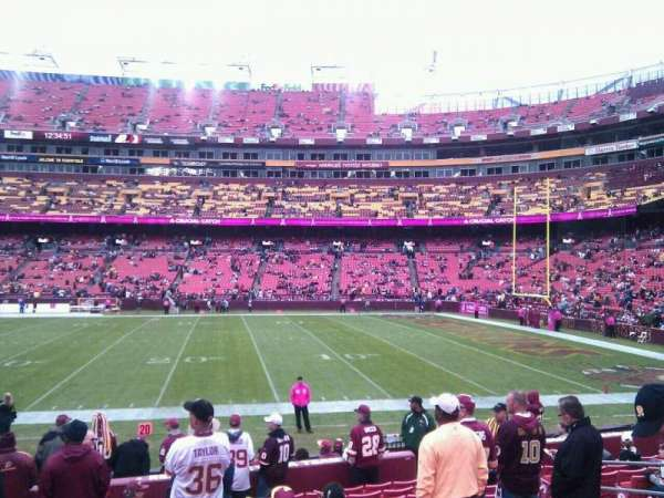 FedEx Field, section: 140, row: 13, seat: 10