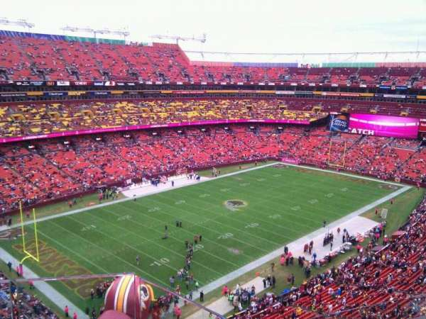 FedEx Field, section: 407, row: 5, seat: 5