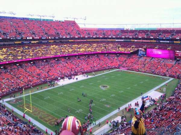 FedEx Field, section: 408, row: 9, seat: 8