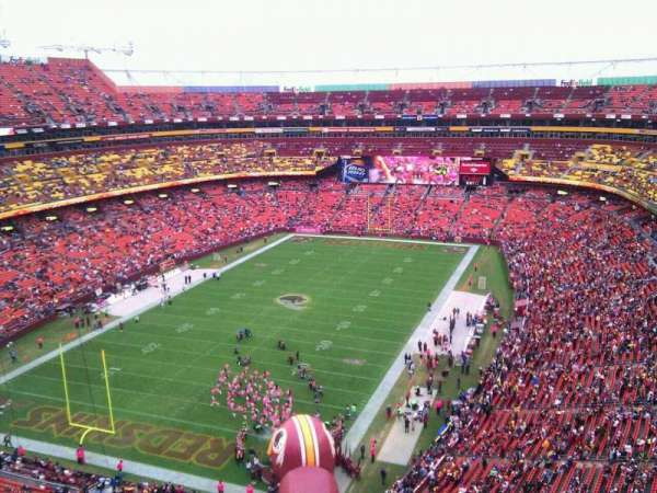 FedEx Field, section: 410, row: 9, seat: 8