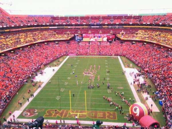 FedEx Field, section: 413, row: 9, seat: 8