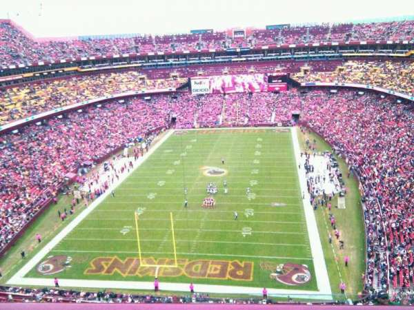 FedEx Field, section: 440, row: 9, seat: 3