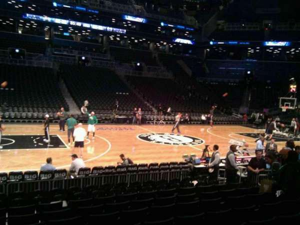 Barclays Center, section: 9, row: 6, seat: 4