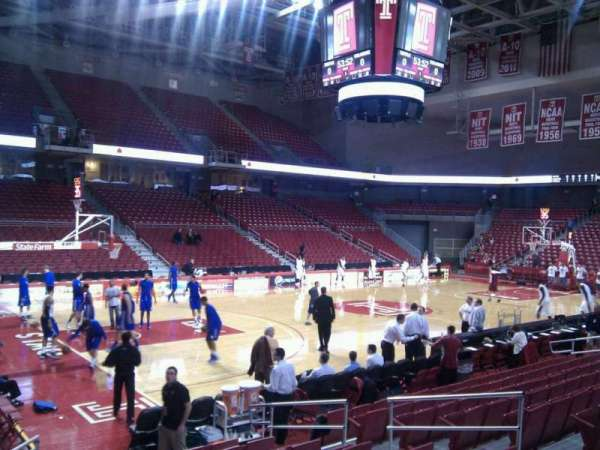 Liacouras Center, section: 105, row: l, seat: 9