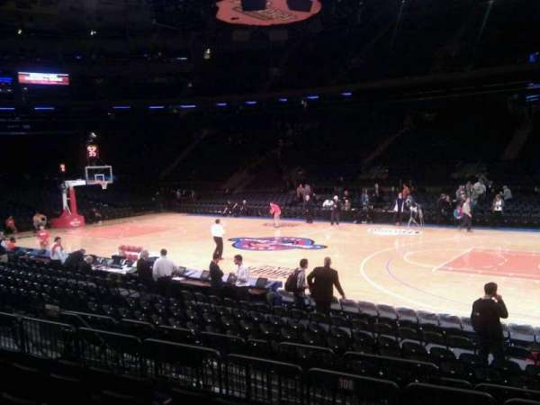 Madison Square Garden, section: 108, row: 6, seat: 17