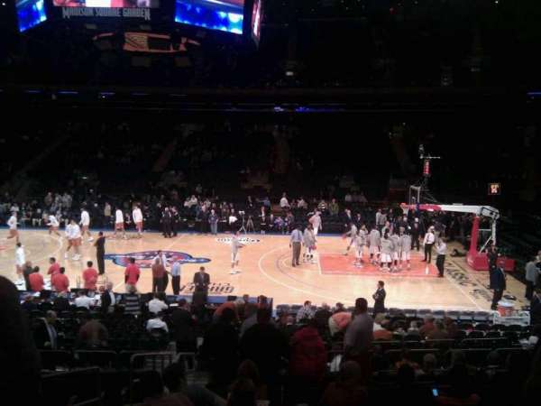 Madison Square Garden, section: 108, row: 12, seat: 3