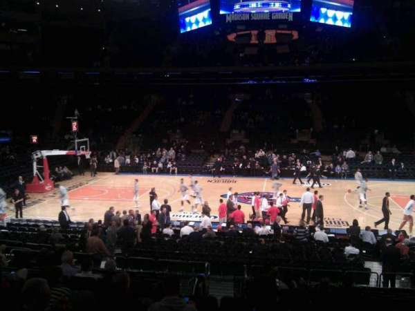 Madison Square Garden, section: 107, row: 13, seat: 13