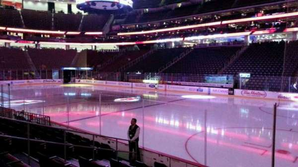 Prudential Center, section: 21, row: 8, seat: 4