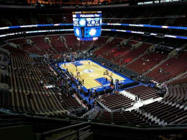 Wells Fargo Center, section: 205a, row: 8, seat: 3
