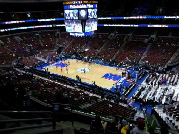 Wells Fargo Center, section: 216, row: 6, seat: 1