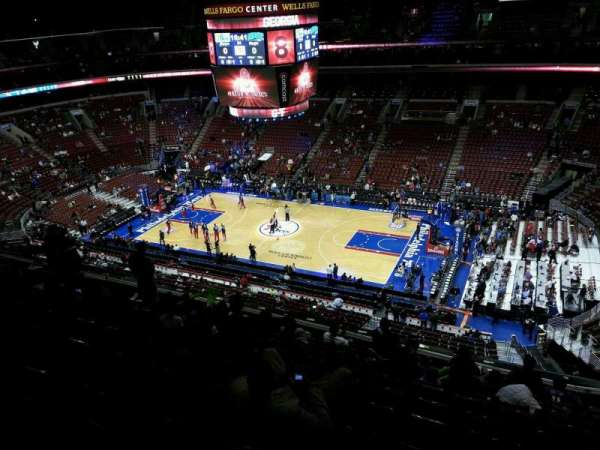 Wells Fargo Center, section: 215, row: 10, seat: 17