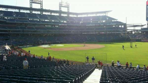Citizens Bank Park, section: 109, row: 30, seat: 18