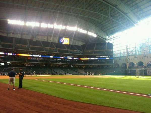 Minute Maid Park, section: 131, row: 1, seat: 5