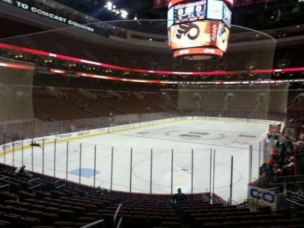 Wells Fargo Center, section: 121, row: 16, seat: 1
