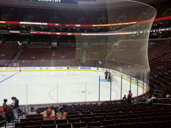 Wells Fargo Center, section: 103, row: 15, seat: 4