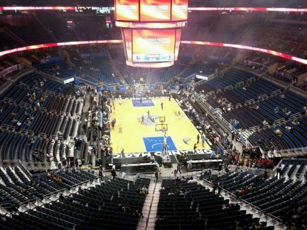 Amway Center, section: 202, row: 2, seat: 5