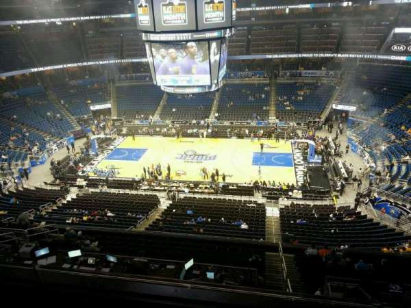 Amway Center, section: 208, row: 2, seat: 10