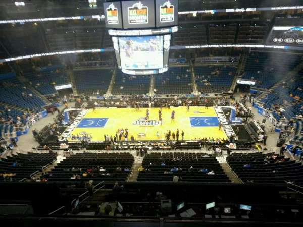 Amway Center, section: 209, row: 2, seat: 3