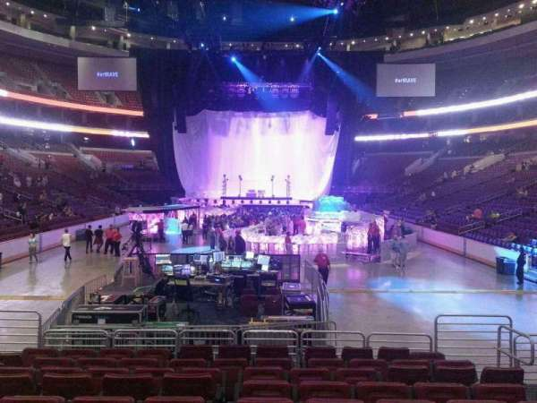 Wells Fargo Center, section: 107, row: 10