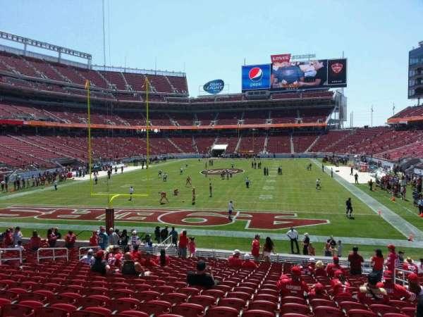 Levi's Stadium, section: 102, row: 22, seat: 6