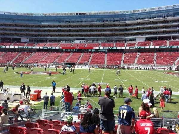 Levi's Stadium, section: 112, row: 12, seat: 4