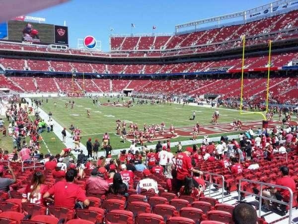 Levi's Stadium, section: 130, row: 18, seat: 16