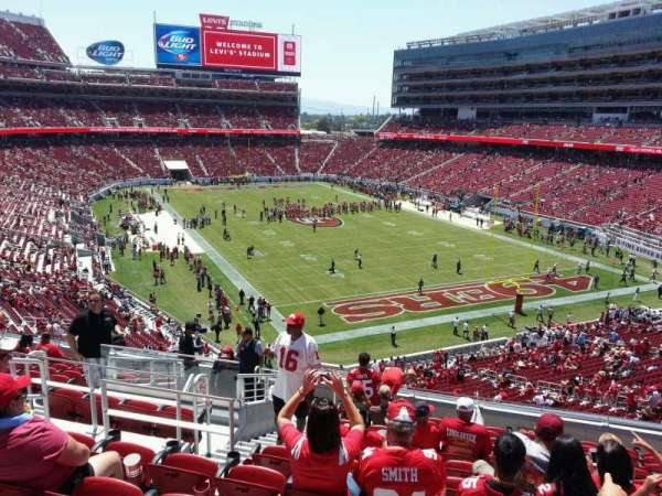 Levi's Stadium, section: 206, row: 12, seat: 29