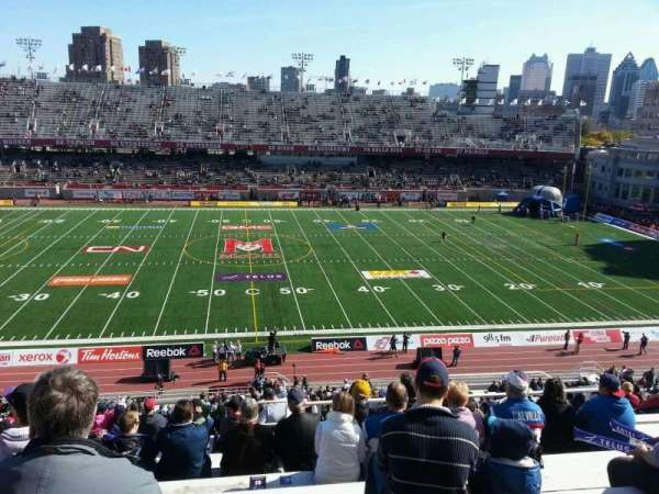 Percival Molson Memorial Stadium, section: g2, row: 10, seat: 10