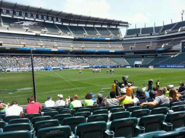 Lincoln Financial Field, section: 136, row: 10, seat: 10