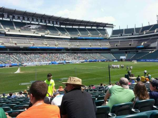 Lincoln Financial Field, section: 135, row: 18, seat: 6