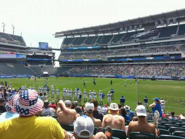 Lincoln Financial Field, section: 123, row: 13, seat: 7
